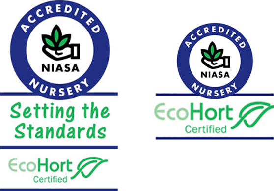 Grown to strict Nursery Industry Association of Australia EcoHort and NIASA Standards